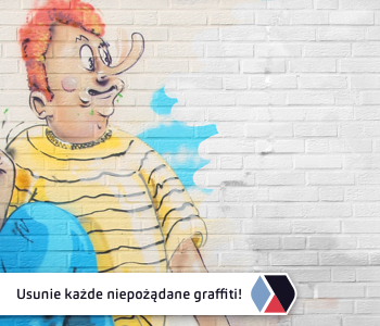 Usuwanie graffiti z budynków za pomocą środków marki Blue and Green