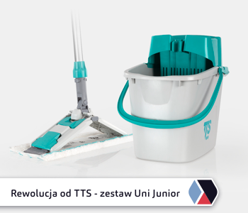Nowość od TTS System – profesjonalny zestaw Uni Junior do mycia podłóg dla każdego